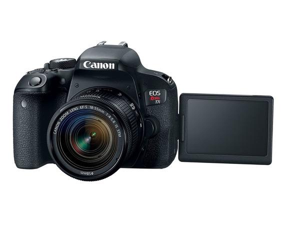 Camara Canon Eos Rebel T7i Kit Obj 18-55mm Reflex