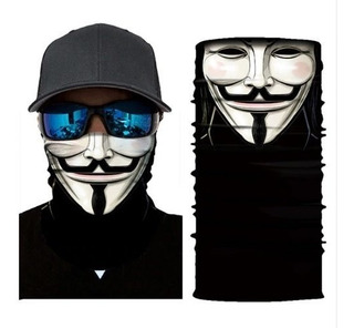 Mascara / Bandana De Ciclismo Moto Anonymous V Vingança