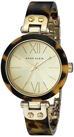 Reloj Mujer Oro Anne Klein 10/9652chto Analogo 34mm Nuevo