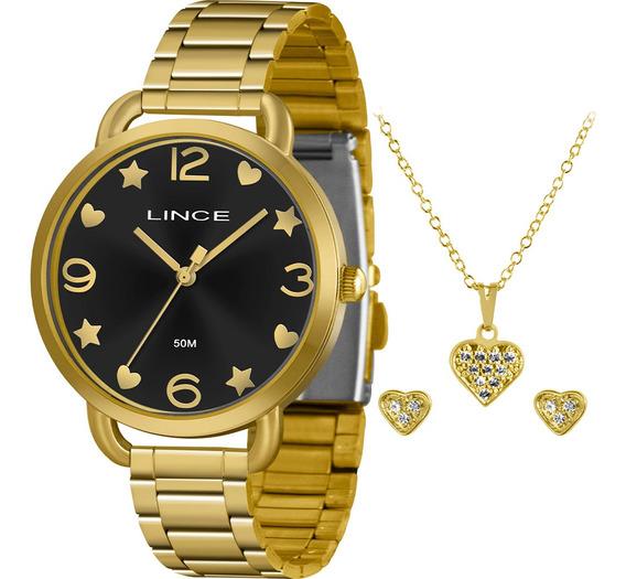 Kit Relógio Lince Feminino Original Com Garantia E Nfe