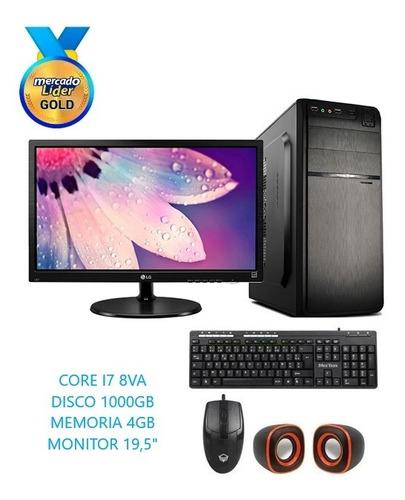 Computador Cpu Intel Core I7 8va Gen 1tb 8gb Led 20 Inc Iva