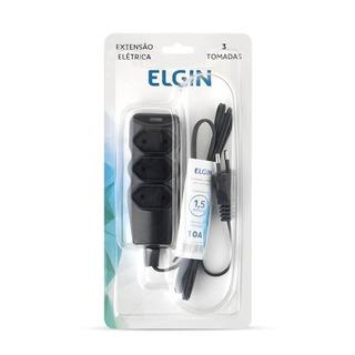 Extensão Elétrica 2p 3 Tomadas Elgin - Com Suporte 1,5 Met