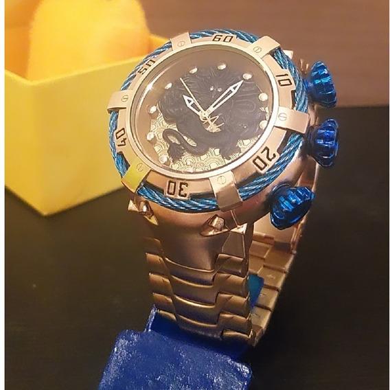 Relógio De Aço Masculino Dourado Luxo Pesado Promoção