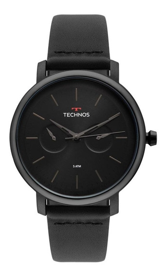 Relógio Masculino Technos Executive 6p25bu/4p 42mm Couro
