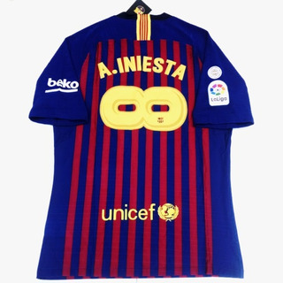 Camisa Barcelona Home 2018 - Iniesta - Jogador