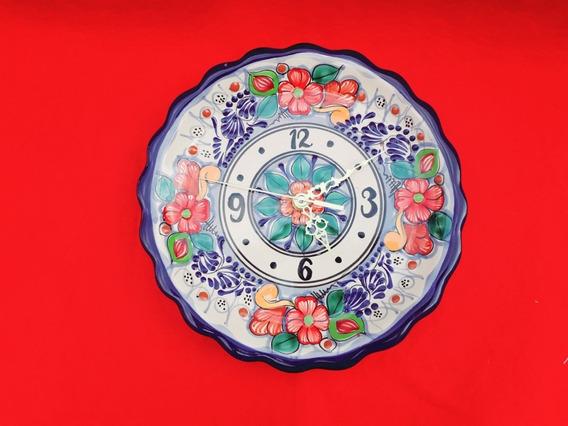 Set 4 Reloj 16 Cm Y 1 Reloj 25 Cm De Talavera Poblana