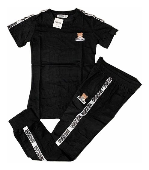 Conjunto Camiseta Para Dama Con Sudadera 100% Algodón