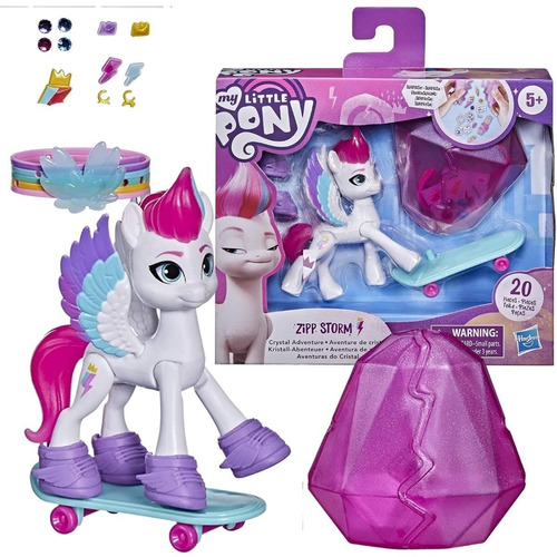 Imagem 1 de 6 de Boneca My Little Pony - Zipp Storm Aventuras Cristal Hasbro