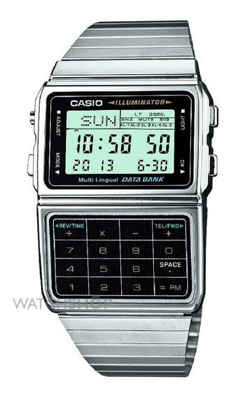 Relogio Casio Dbc 611-1 Aço Data Bank Calculadora Crono Time