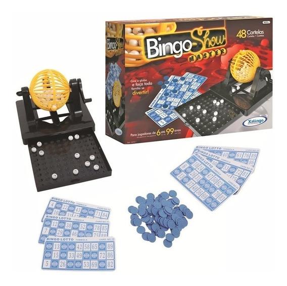Jogo Bingo Master Show 48 Cartelas Dispenser Gaveta Xalingo