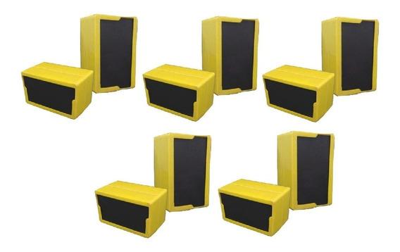 Kit Com 10 Porta Guardanapos Amarelo Tv, Bares,restaurantes