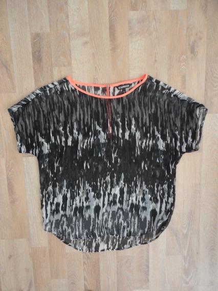 Camisa Negra Y Neon Express