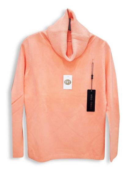 Sweater Polerón Dama Clásico Cachemire Like Marca Miss Twidd