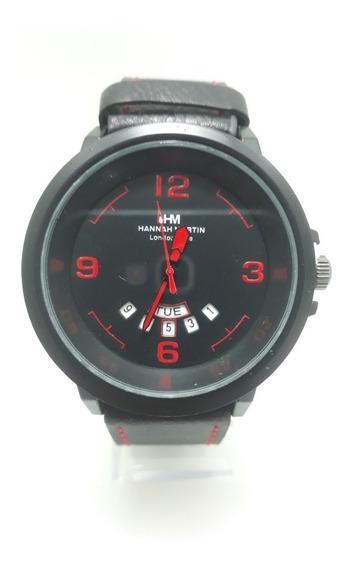 Relógio Esporte Militar Pulseira Couro Masculino Laçamento