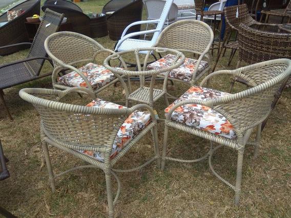 Conjunto Bianca 4 Cadeiras E Mesa Com Vidro
