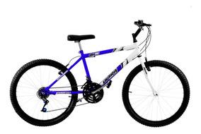 Bicicleta Ultra Bikes Bicolor Aro 26 18 Marchas Azul/branca