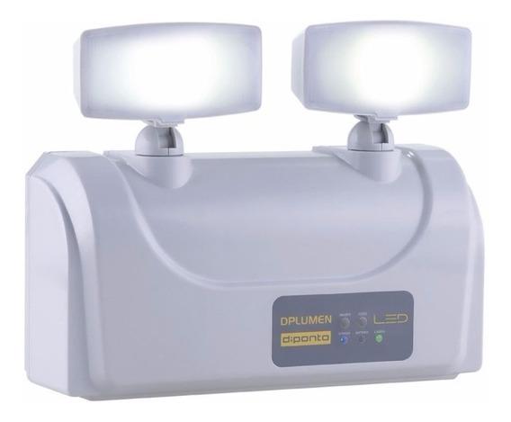 Luminária Luz Emergência Led 2 Faróis 3000 Lumens Diponto!
