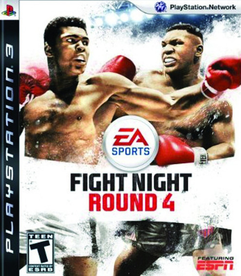 Jogo Fight Night Round 4 Playstation 3 Ps3 Mídia Física Game