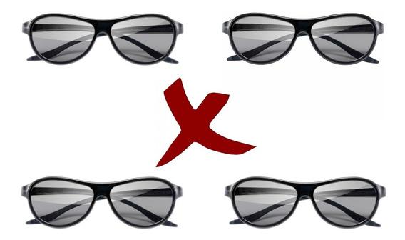 4 Óculos 3d Passivo Tv LG Ag-f310 Lm Lw Cinema 3d