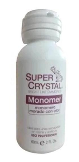 Liquido Monomero Morado Super Crystal 2 Oz Uso Profesional