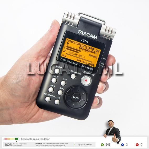 Gravador Tascam Dr-1 + 2 Baterias +frete Grátis 12x S/ Juros