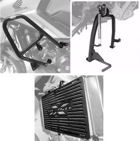 Kit Protetor Motor E Radiador + Cavalete Nc700x Nc 750x Scam
