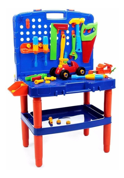 Bancada Maleta De Ferramentas Brinquedo Educativo Infantil