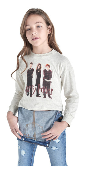 Playera Manga Larga Harry Potter De Niña C&a (mod 3002355)
