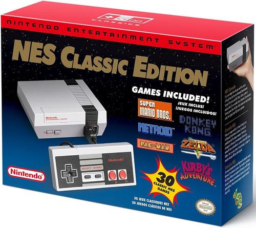 Nintendo Nes Classic Edition Mini Consola Con 30 Juegos 2016