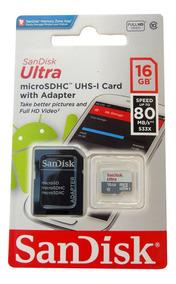 10 Cartão Micro Sd 16gb Ultra Classe 10 80mbs Original