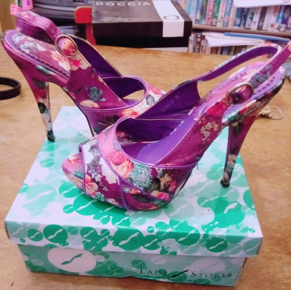 Zapatos Taco Fino Lady Stork Art. B1442-28 Purple