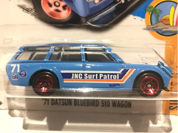 Hot Wheels 71 Datsun Bluebird 510 Wagon - Azul