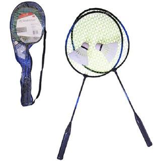Raquete De Badminton Com 2 Unidades + 2 Petecas E Bolsa