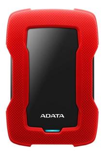 Disco duro externo Adata HD330 AHD330-1TU31 1TB rojo