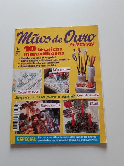 Revista Mãos De Ouro Artesanato Pintura Em Tecido D722