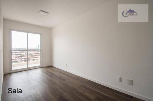 Apartamento Com 2 Dormitórios, Sendo 1 Suíte, À Venda, 59 M² Por R$ 335.000 - Parque Das Nações - Santo André/sp - Ap3642