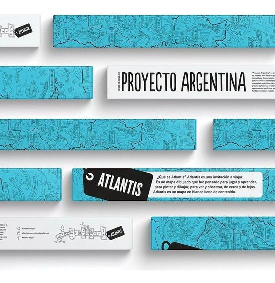Mapa Gigante Para Colorear Republica Argentina Atlantis