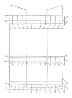 Organizador Cocina Baño Ducha 3 Estantes Colgante Blanco Pce