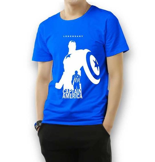 Camiseta Capitão América Vingadores Camiseta 100% Algodão