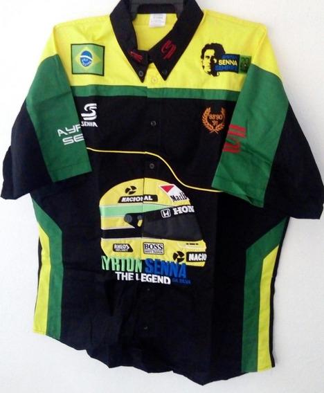 Camisa Ayrton Senna Da Silva The Legend Escuderia Caballero