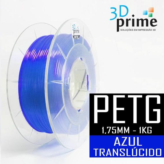 Filamento 3d Prime Petg Azul Translúcido 1,75mm 1kg