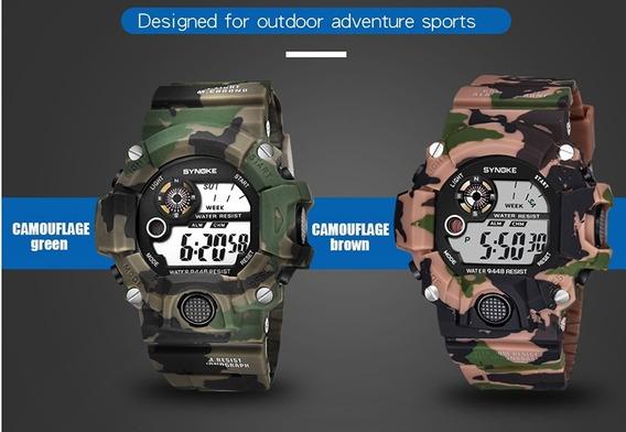 Relógio Militar Camuflado Multifunção