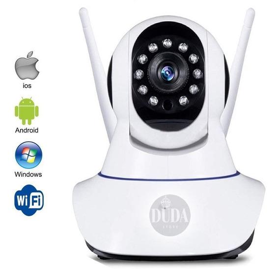 Câmera Ip Wifi Visão Noturna P2p Microfone Cartão Sd Top