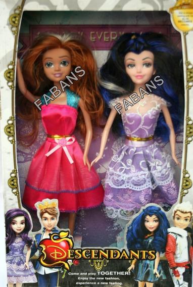 2 Muñecas Descendientes Mal Evie Audrey Juguetes Niña Barbie