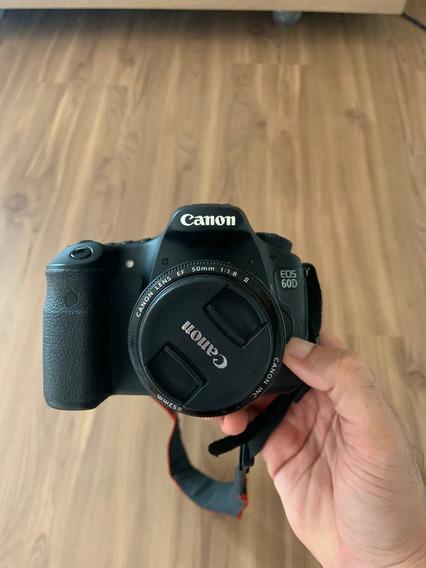 Câmera Canon 60d Com Lente 50mm