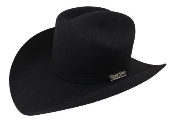Sombrero Texana De 6 X Marca West Point Color Negro Lana