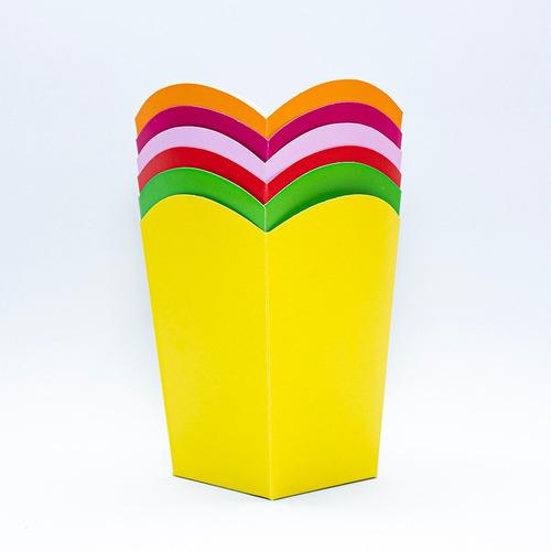 Caja Para Crispetas Pequeña Color - - Unidad a $1