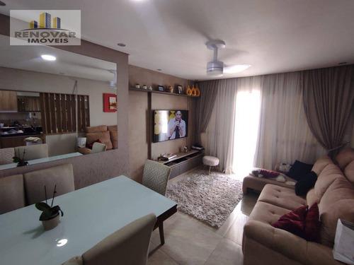 Apartamento Com 3 Dormitórios À Venda, 73 M² Por R$ 470.000,00 - Vila Rubens - Mogi Das Cruzes/sp - Ap1083