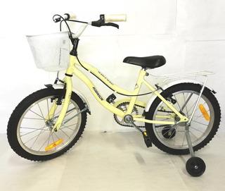Bicicleta Robinson 0298 Rod 16 Playera Full Nena Cuota Beiro Hogar