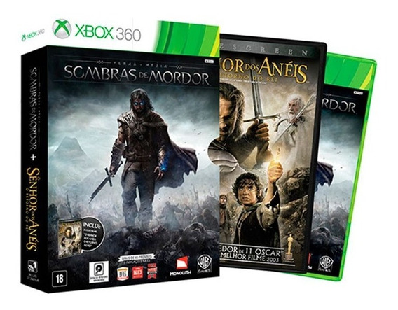 Shadow Of Mordor + Filme - Nacional - Xbox 360